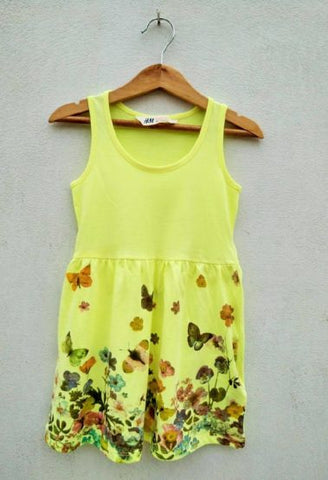 GIRLS BUTTERFLY FROCK BY H&M(1.5-8YRS)