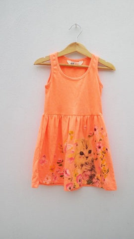 GIRLS CAT FROCK BY H&M(1.5-8YRS)