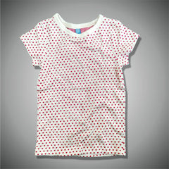 GIRLS CUTE HEART TEE BY OKAIDI – (6-14Y)