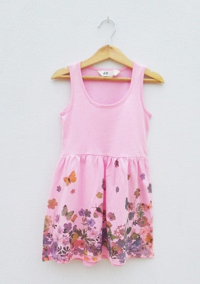 GIRLS FLOWERFROCK BY H&M(1.5-8YRS) L.PINK