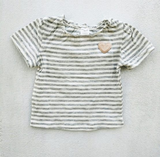 GIRLS HEART OF GOLD HALF SLEEVE TEE BY C&A (3M-24M)