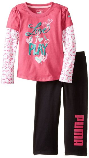 GIRLS LOVE & PLAY SET BY PUMA(12M-6YRS)