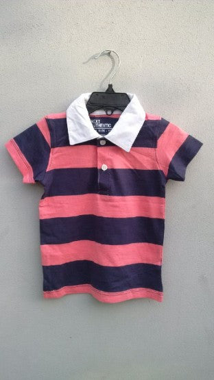 GIRLS STRIPPED POLO BY NEXT (6M-24M)