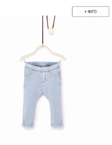 GIRLS TROUSER ZARA (3MONTHS TO 4 YEARS) SKYBLUE