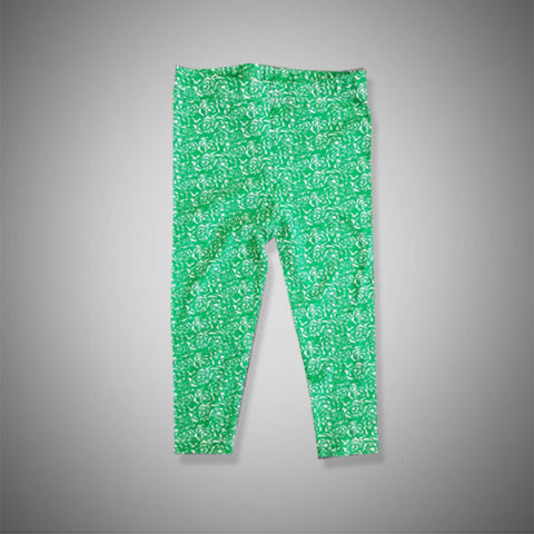 GIRL'S GREEN ROSE JERSEY TROUSER BY H&M-(4-18)YRS