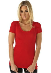LADIES SCOOP NECKLINE TEE | WET SEAL