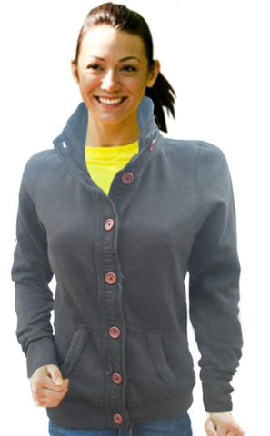 LADIES SLIM FIT BUTTON JACKET|LEAGUE D.GREEN