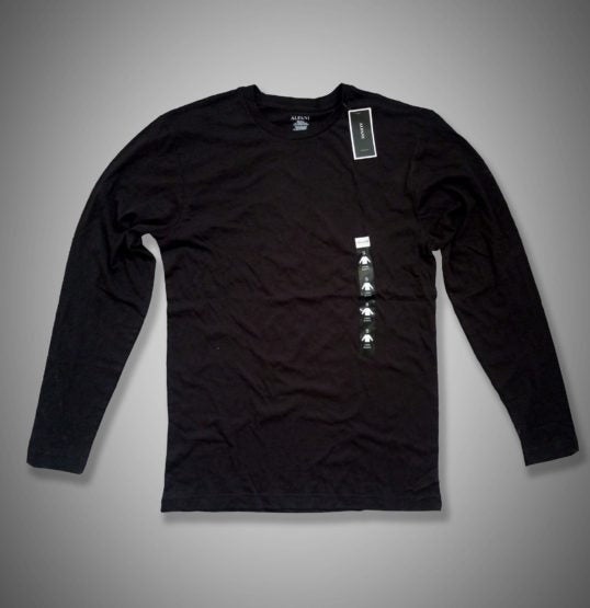 MENS FULL SLEEVE ALFANI TEE -BLACK