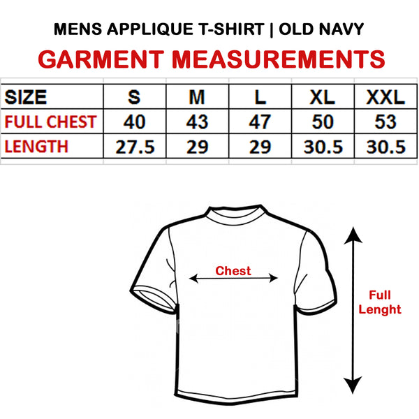 MEN'S APPLIQUE NAVY T-SHIRT | OLD NAVY
