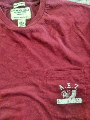 MEN'S AMERICAN EAGLE POCKET TEE
