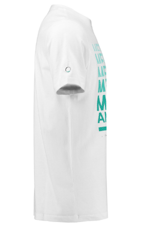 MEN'S GRAPHIC LOGO WHITE MERCEDES|PETRONAS