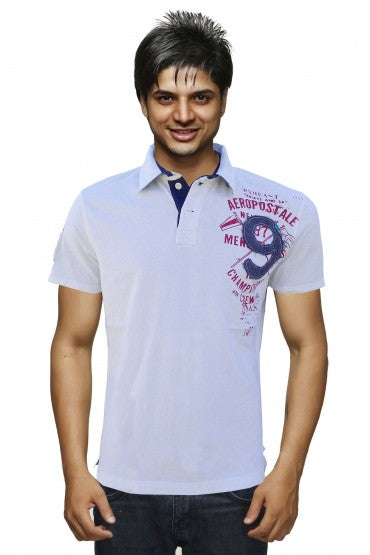 MEN'S RUGBY JERSEY POLO AEROPOSTALE WHITE