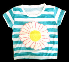 GIRL'S SUNFLOWER PATCH T-SHIRT | MARKHOR
