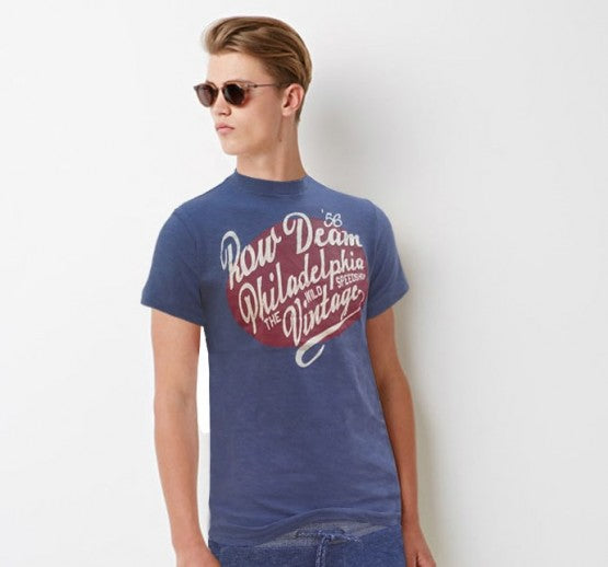 PHILADELPHIA PRINT T-SHIRT IN 100% COTTON BY OVS (ITALIAN BRAND)