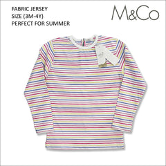 GIRL'S SHINY STRIPE TEE | M&Co-(3M-4Y)