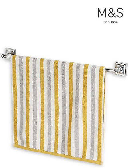 LIGHTWEIGHT STRIPED TOWEL BATH TOWEL | M&S HOME