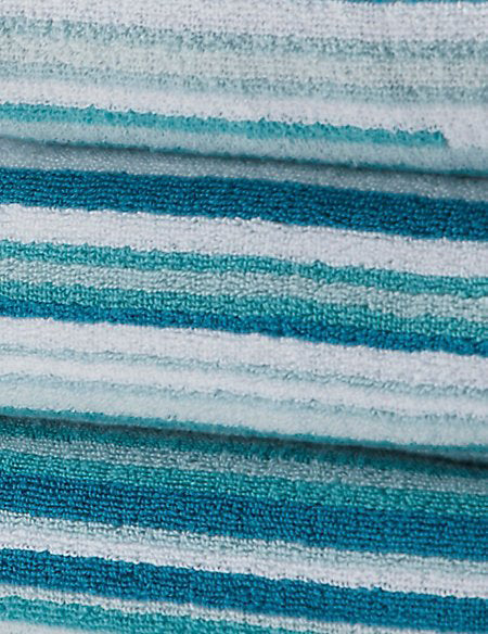 SKINNY STRIPED BATH TOWEL | MARKS & SPENCER