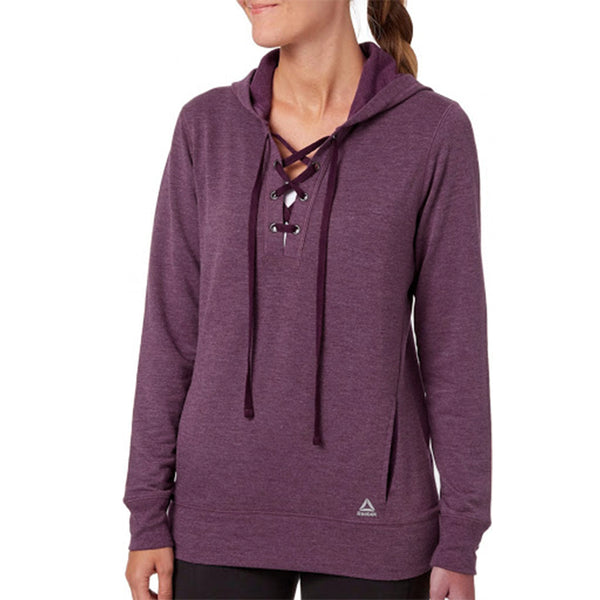 LADIES PUPOVER LACE UP HOODIE | REEBOK
