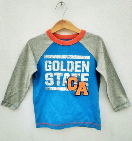 BOYS GOLDEN STATE FULL SLEEVE TEE BY OLD NAVY (12M-5YRS)