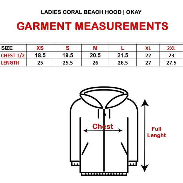 LADIES CORAL BEACH HOOD | OKAY