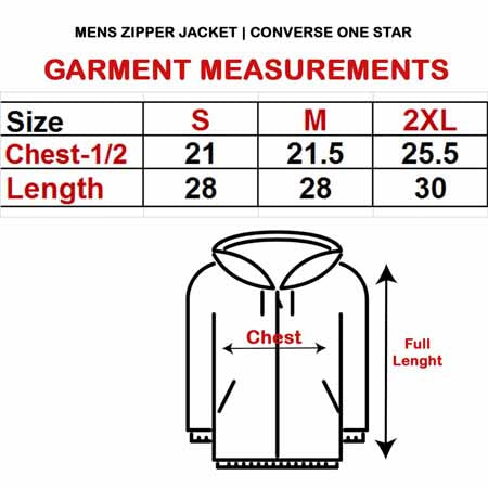 MEN'S ZIPPER JACKET|CONVERSE ONE STAR
