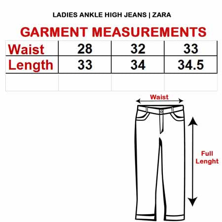 LADIES ANKLE HIGH JEANS | ZARA