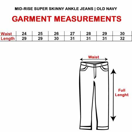 MID-RISE SUPER SKINNY ANKLE JEANS|OLD NAVY