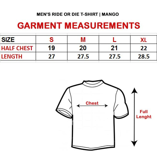 MEN'S RIDE OR DIE T-SHIRT |MANGO