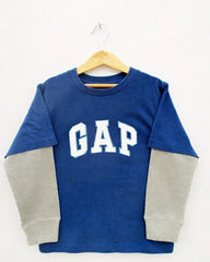 BOYS R/NECK F/S PRINT HD BLUE