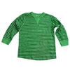 BOYS CLASSIC STRIPED  T-SHIRT| GP-GREEN-(4Y-13Y)