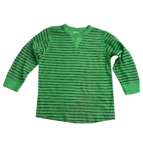 BOYS CLASSIC STRIPED  T-SHIRT| GAP-GREEN-(4Y-13Y)
