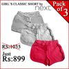 PACK OF 3 GIRL'S CLASSIC SHORT | NEXT-(3Y-10Y)