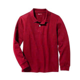 BOY'S FULL SLEEVE PIQUE POLO|GAP-RED- (4Y-16Y)