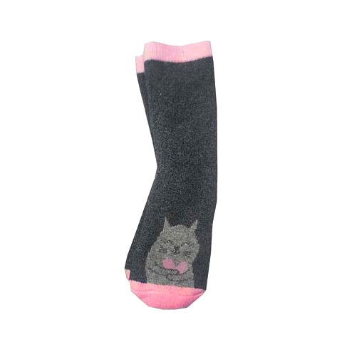 GIRL'S PACK OF 1 VELVET INNER ASSORTED SOCKS | MARKHOR-(4Y-6Y)