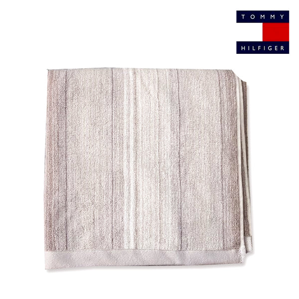 STRIPED TEXTURE BATH TOWEL | TOMMY