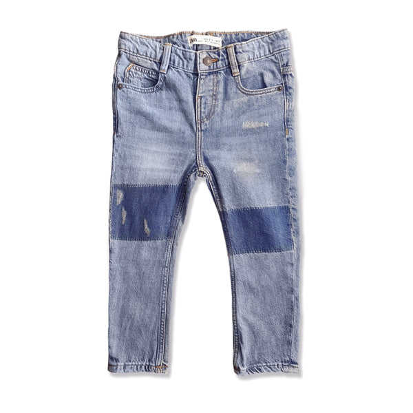 BOY'S  RIPPED PATCH JEANS | ZARA