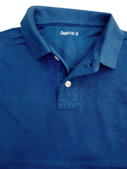 BOY'S FULL SLEEVE PIQUE POLO | GAP-BLUE (4Y-16Y)