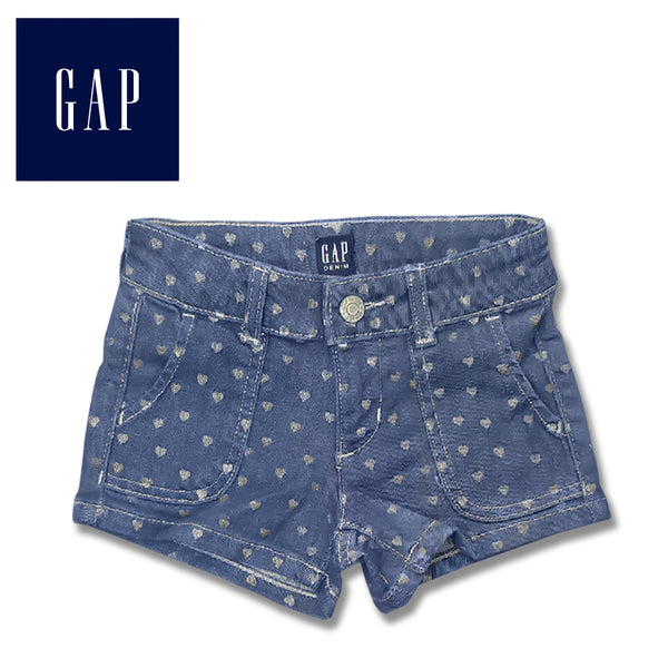 GIRLS HEARTS FRONT POCKET SHORTS | GAP-(5Y-14Y)