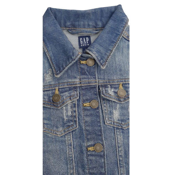 GIRL'S DISTRESSED DENIM JACKETS | GAP