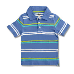 BOY'S BLUE STRIPE POLO | OLD NAVY-(12M-5Y)