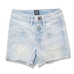 GIRL'S TWO TONE BUTTONS SHORTS | GP-(4Y-18Y)
