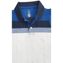 BOY'S BLUE WHITE STRIPE POLO | OLD NAVY-(12M-5Y)