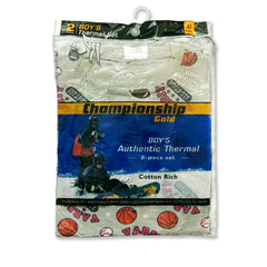 BOY'S AUTHENTIC THERMAL SET | CHAMPIONSHIP GOLD-(4Y-16Y)