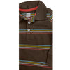 BOY'S BROWN STRIPE POLO | ON-(6M-5Y)