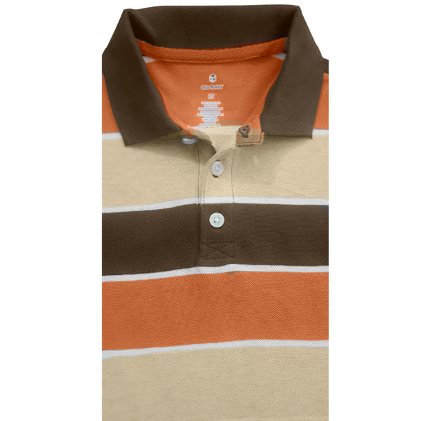 BOY'S ORANGE-BROWN POLO BY OLD NAVY (12M-5Y)
