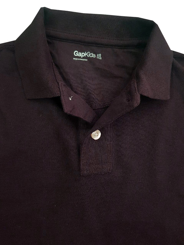 BOY'S FULL SLEEVE PIQUE POLO | GAP-BROWN (4Y-16Y)