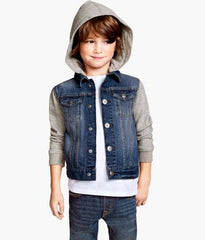 BOY'S HOODED DENIM JACKET | H&M-(1.1/2Y-14Y)
