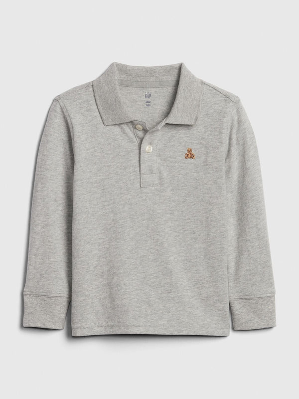 BOY'S CUTE TEDDY BEAR POLO | GAP-(12M-5Y)