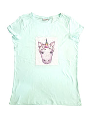 GIRL'S UNICORN REVERSE SEQUIN T_SHIRT | -(10Y-14Y)