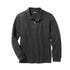 BOY'S FULL SLEEVE PIQUE POLO|GAP-CHARCOAL- (4Y-16Y)